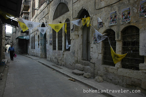 Steet of the old city in Nablus