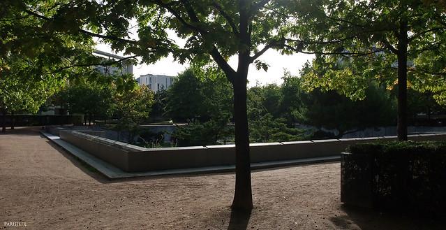 Jardin noir, un des trois espaces du Parc