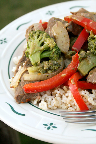 Spicy Beef & Broccoli Stirfry.