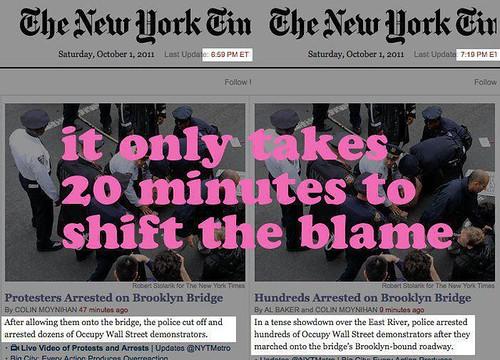 NY Times Change BK Bridge Story