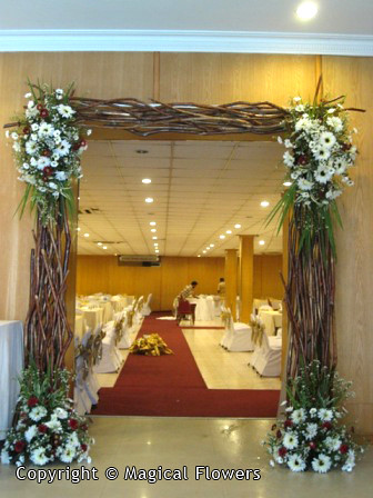 Wedding entrance decorations from magical flowers sri weddings topic image junglespirit Choice Image