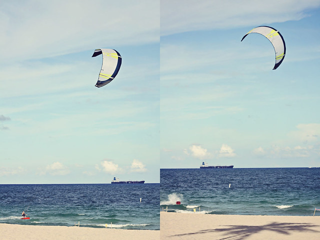 Fort Lauderdale beach kitesurfer diptych 3