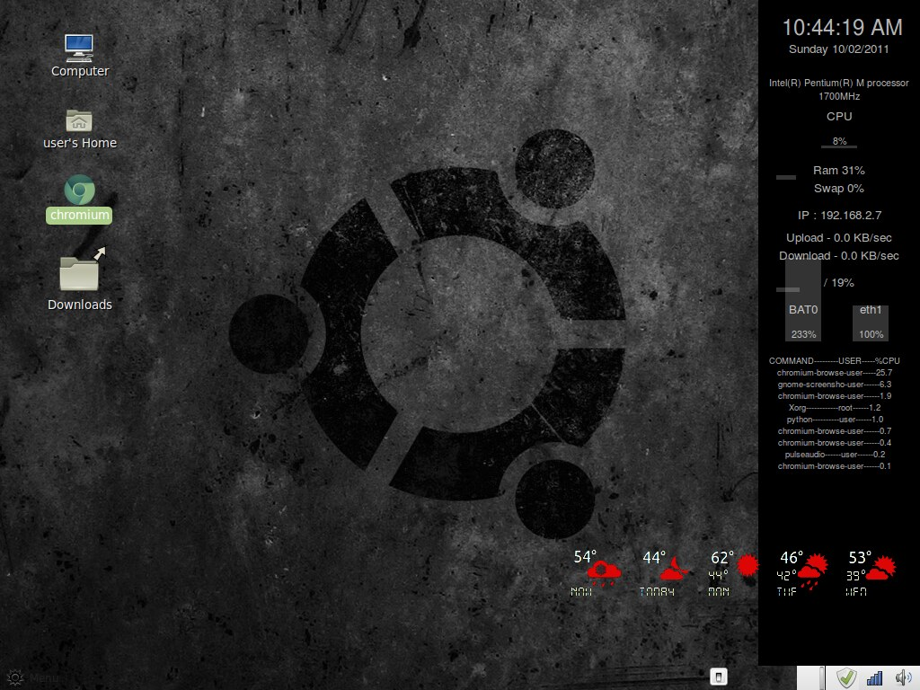 Linux Mint Custom Desktop