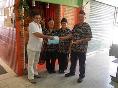 Acto entrega cheque - Cesta Solidaria 30-09-2011