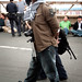 Man with camera arrested on Brooklyn Bridge during Occupy Wall Street march