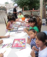 Taller de Dibujo para Nios en MaJuana (Comunidad Fronteriza) Tags: robert nios taller tres trujillo juarez consulado majuana