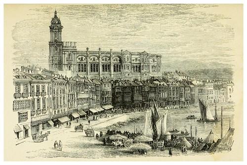 007-Puerto muelle y Catedral de Malaga-Spain-1881-Edmondo De Amicis-ilustrado por W. Vilhelmina Cady
