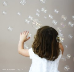 Bubbles! (molingle) Tags: playing girl childhood fun child play bubbles littlegirl preschool popping poppingbubbles