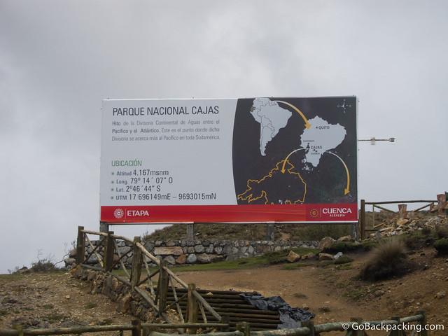 Parque Nacional Cajas in Ecuador