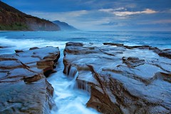 View through the gap (James.Breeze) Tags: morning seascape sunrise rocks raw australia nsw canonef1740mmf4l coalcliff jamesbreeze