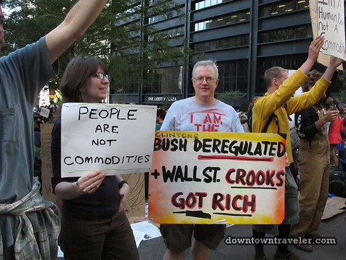 NYC Occupy Wall Street Rally Oct 8 2011 crooks sign