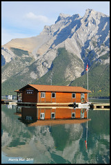Reflection in Lake Minnewanka - Rockies N7271e (Harris Hui (in search of light)) Tags: trip cruise vacation lake canada reflection water vancouver rockies dock nikon bc sunny richmond explore boatcruise lakeminnewanka boatdock canadianrockies d300 minnewanka onexplore glacierlake 18200mm reflectioninwater boatcruises explored nikon18200mmvr flickrfrontpage nikonuser lakescenery nikond300 banffvacation waterofthespirits harrishui ilovereflection vancouverdslrshooter my5daysbanfftrip my5dayscanadianrockiestrip longestlakeincanadianrockies stoneyindianlanguage imageonexplore