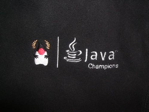 Java Champions Logo on Fleece