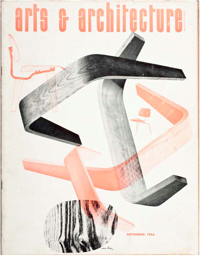 Herbert Matter. Arts and Architecture, December 1946, cover