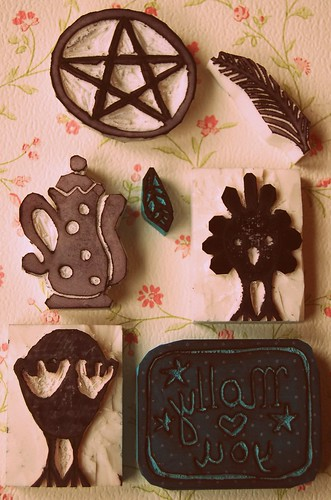 Eraser stamps by Tuttebel