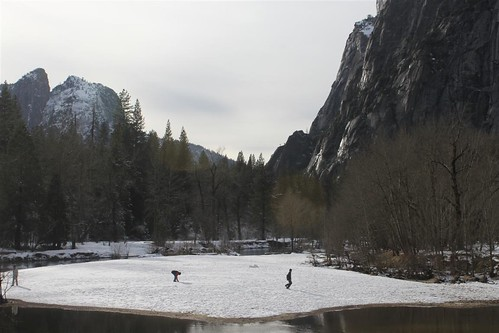 Yosemite Valley  at Yosemite National Park, California during winter