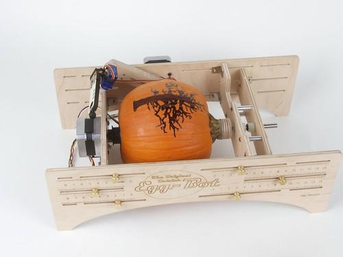 Tree pumpkin in ostrich eggbot