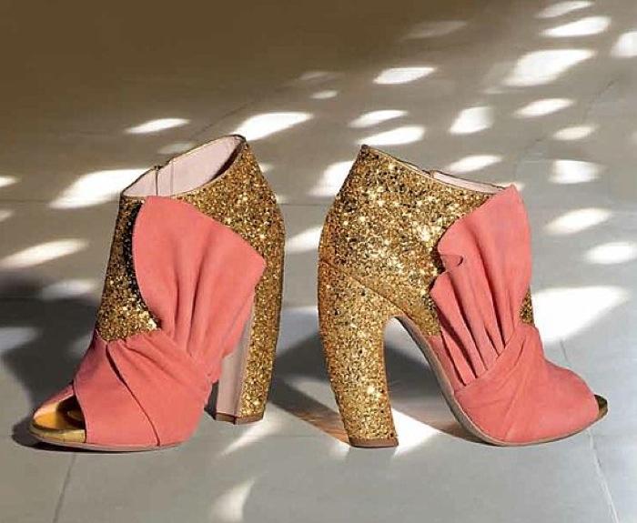 Miu Miu FW11 pastel glitter heels