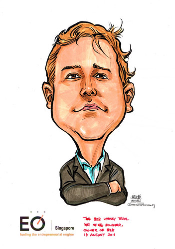 Mr Mike Soldner caricature for EO Singapore