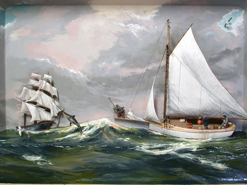 Swordfishing The Atlantic c.1890  -Shadowbox, Rex Stewart