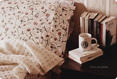 A Lazy Sunday morning. (Laura Ascari) Tags: morning ikea cup book bed bedroom nikon day sunday bad libro books libri blanket mug letto domenica tazza giorno coperta umore