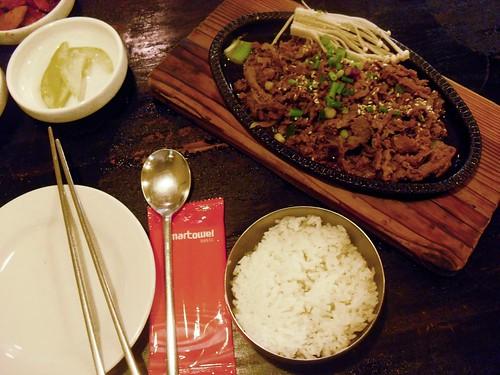 kim's family restaurant: beef bulgogi