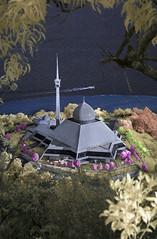 Sim sim mosque (by nelzajamal) Tags: nikon d70s mosque infrared goldie sim sabah masjid jamal modded sandakan nelza