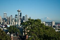Seattle skyline and Mt.Rainier (Anilkumar Y) Tags: kerrypark gasworkspark wallacefalls lakewallace