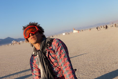 ansi at sunrise, coming of phage (glasser) Tags: burningman anselm phage burningman2011 comingofphage sidneysultramegafaves2011portraits