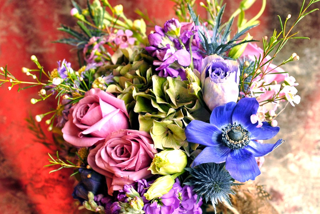 Detail Purple Bouquet