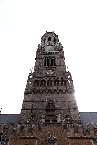 looking up to top of tower