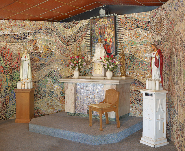 Black Madonna Shrine, in Jefferson County, Missouri, USA - altar of outdoor chapel