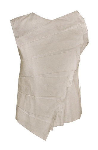 Top with Shell Pleats, P1495