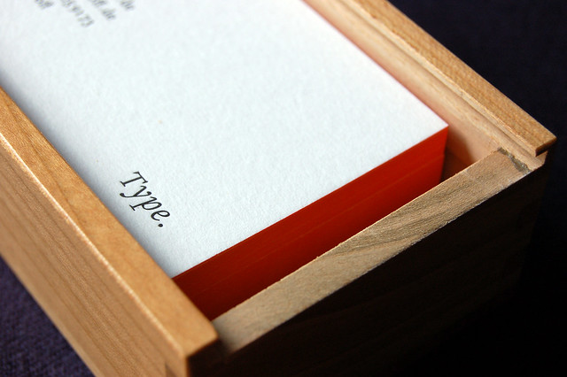 Box close-up with Type