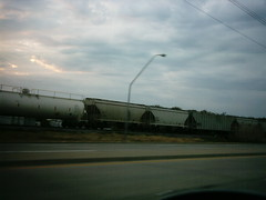 freight train with clouds