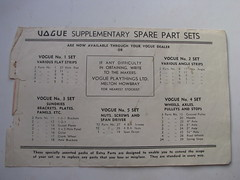 vogue spare parts sets (meccanohig) Tags: steel vogue sets constructional