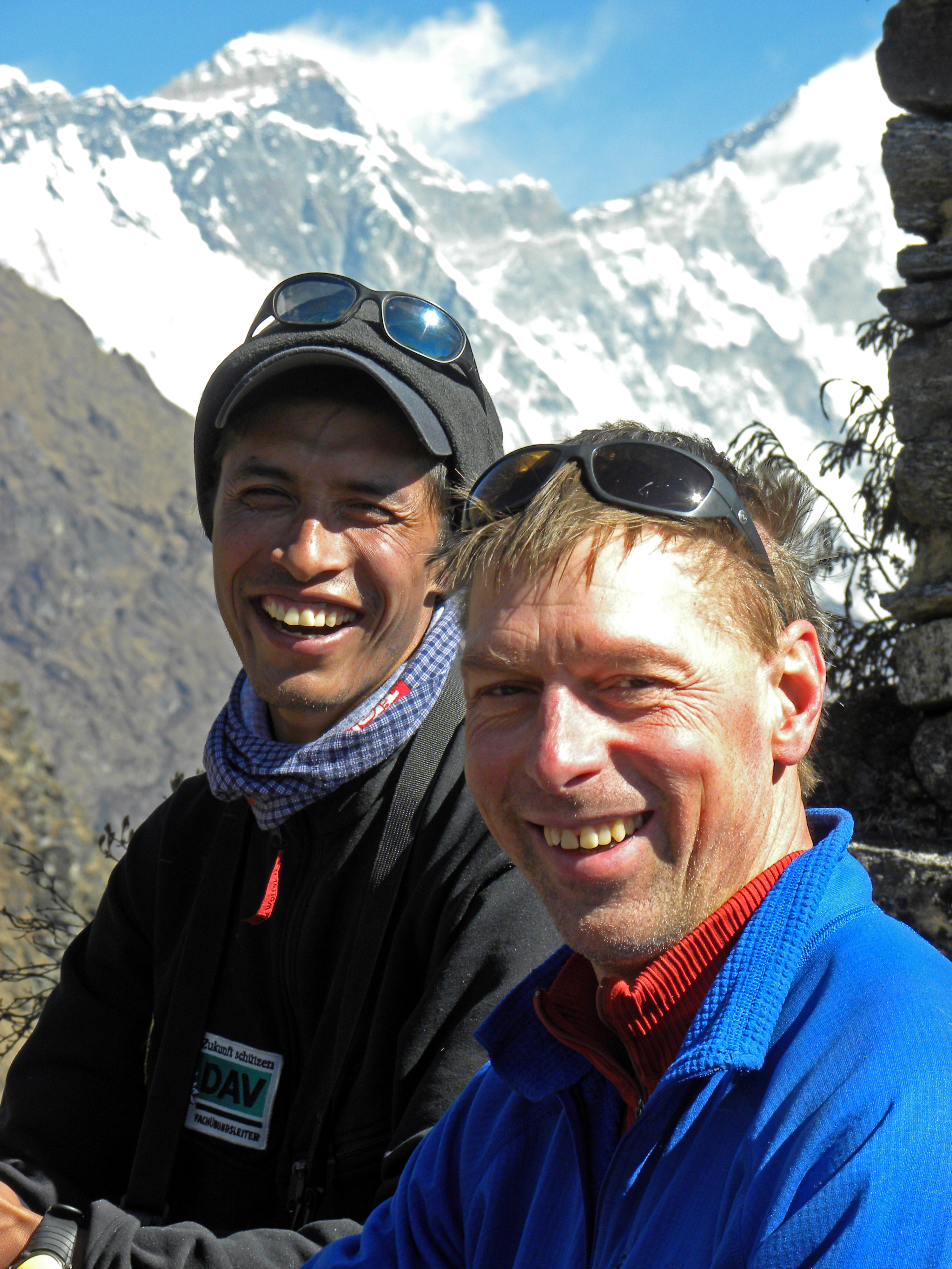 Steve Mock in Nepal with Krishna Gopal Shrestha