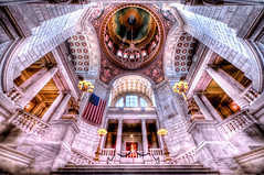 Inside the Rhode Island State House (Swissrock) Tags: ri usa hall nikon capital september rhodeisland inside marble hdr goverment starsstripes kobel photomatix tonemapping nikorr rhodeislandstatehouse smithhill d700 1424mm andaykobel