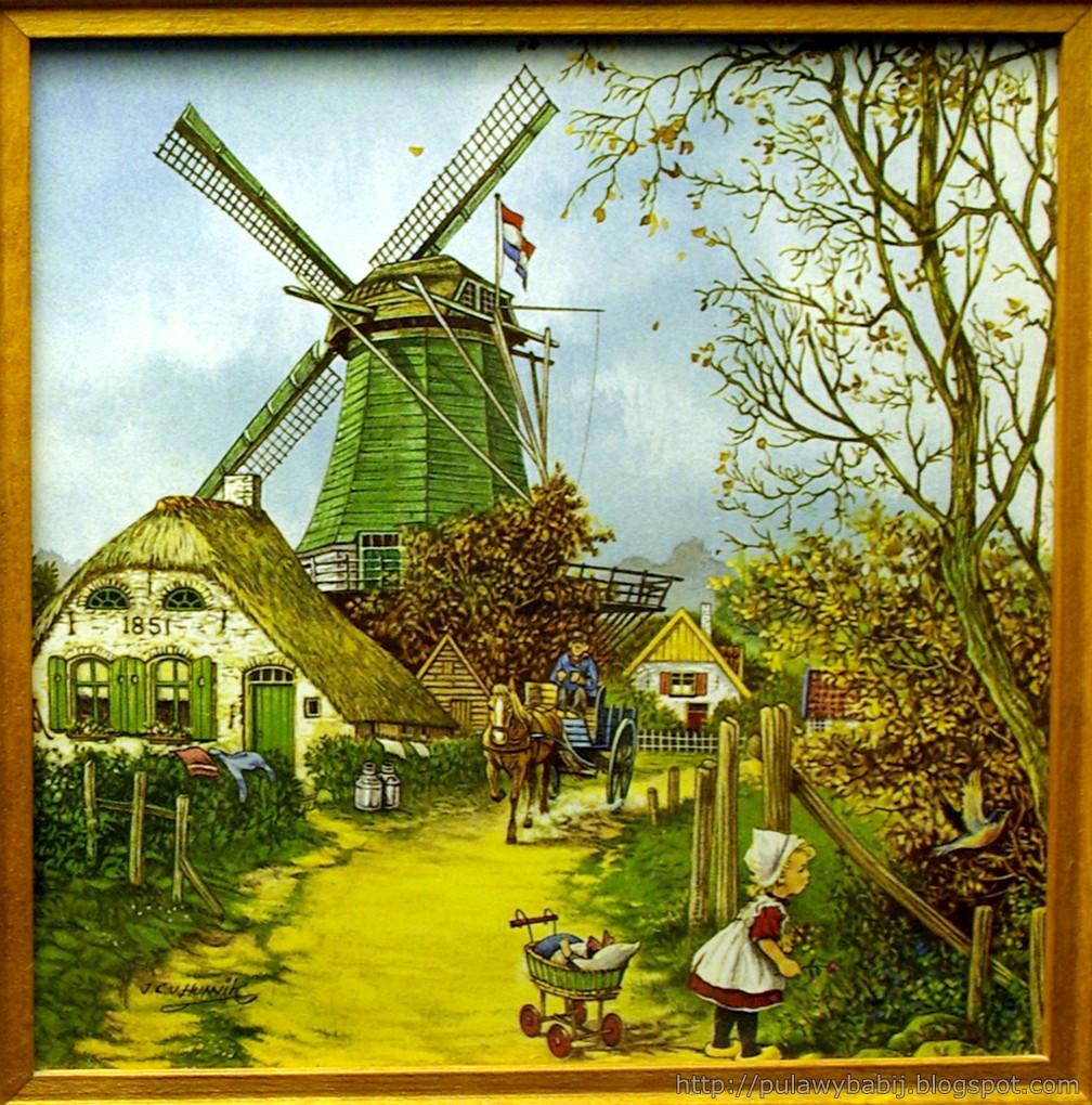 Fajans holenderski, Kafle dekoracyjne