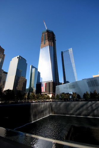 WTC 1 and the North Tower Pool by DC4416