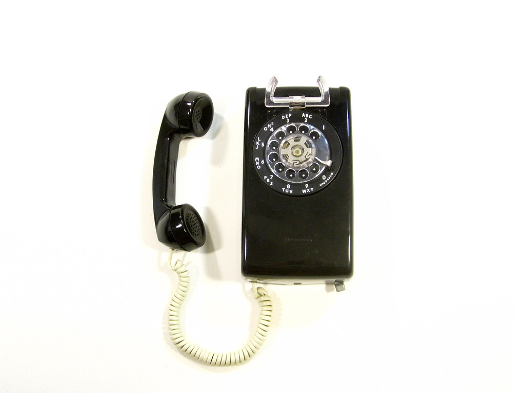 Vintage Black Rotary Wall Phone