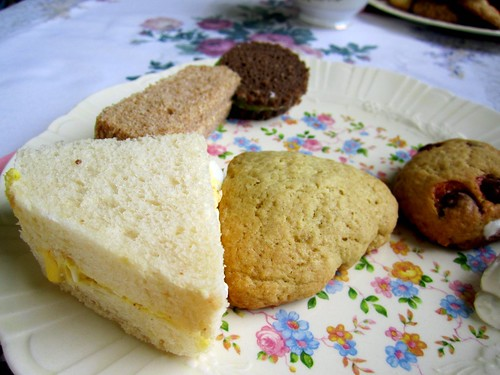 scones and tea sandwiches
