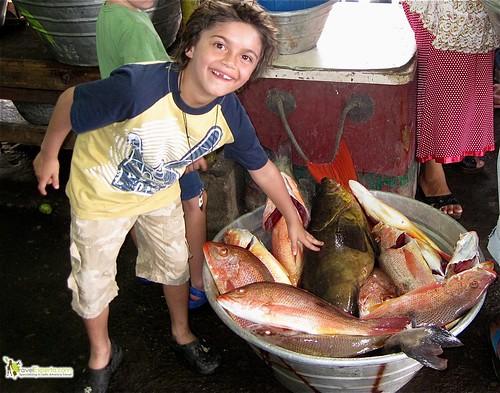 fresh seafood at market la libertad el salvador