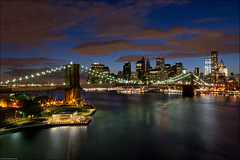 Brooklyn Bridge II (Souvik_Prometure) Tags: new york nyc newyorkcity longexposure sunset usa brooklyn unitedstates manhattan unitedstatesofamerica worldtradecenter brooklynbridge manhattanbridge wtc bluehour sigma1020mm abigfave anawesomeshot nikond90 flickrdiamond souvikbhattacharya