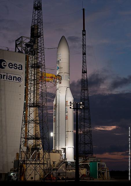 Ariane en zone de lancement