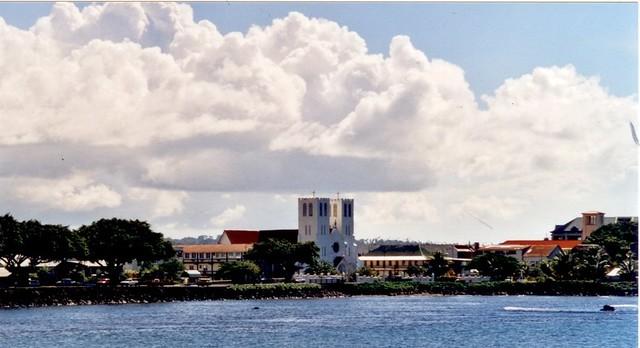 Samoa - Apia skyline