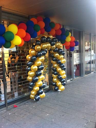Ballonboog 5m Zwart en Goud