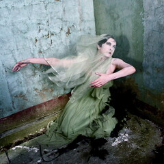 Dance of the Eidolon (Helen Warner (airgarten)) Tags: woman house art photography rising dance spirit ghost fine helen warner haunting mansion floorboards eidolon airgarten
