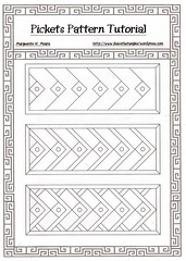 Pickets (Marguerite1997) Tags: patterns template coloringbook zentangle