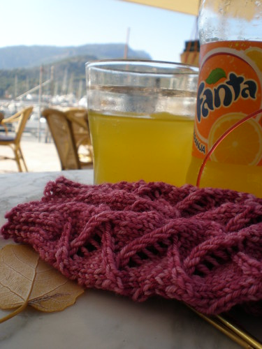 Fanta and knitting
